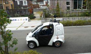 自動運転小型EV実証走行