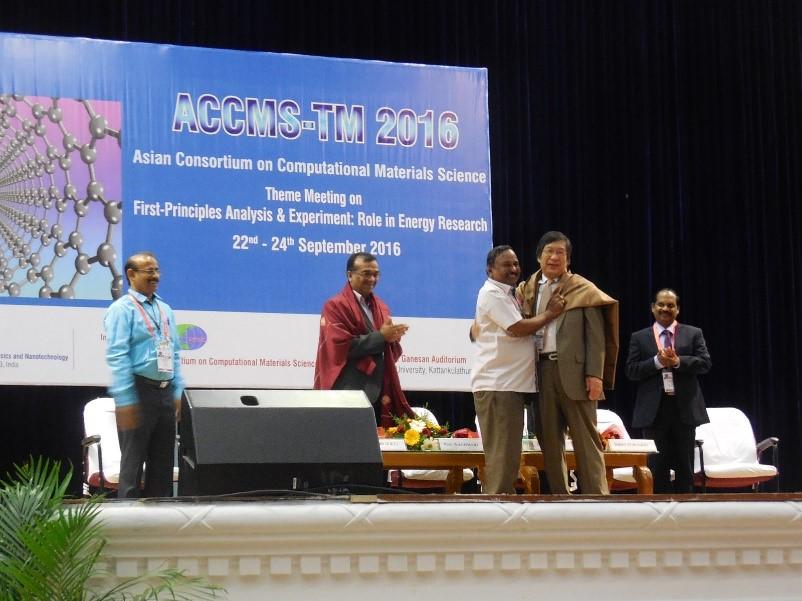 昨年8月にSRM大学で、創始者の川添教授主催で開催されたACCMS国際会議の開会式。